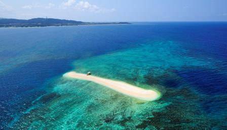散骨エリアの八重山諸島